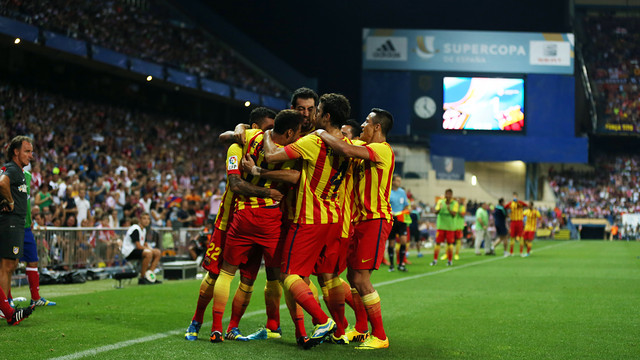 players together after scoring a goal on an away match