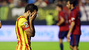 Cesc adter missing a great chance / PHOTO: MIGUEL RUIZ-FCB