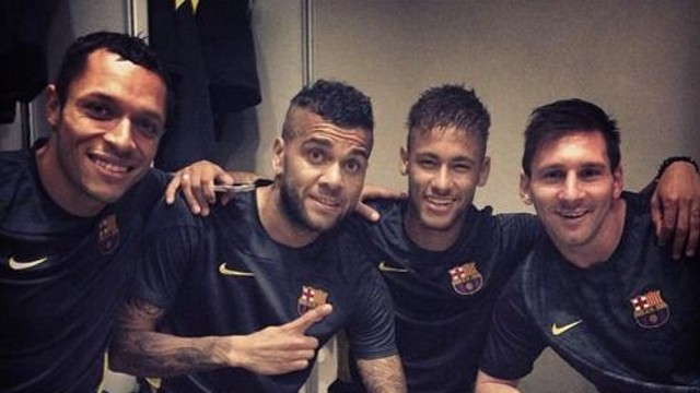 Els jugadors del Barça, a Milà