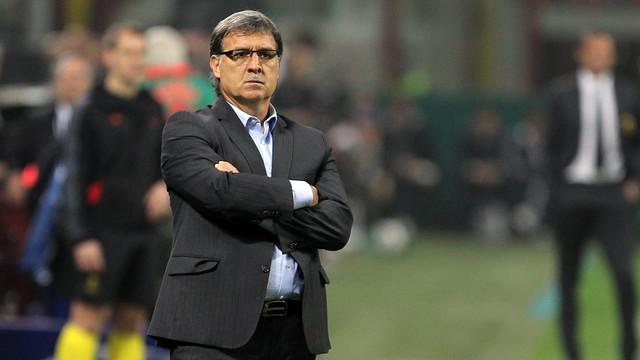 Tata Martino at the San Siro / PHOTO: MIGUEL RUIZ - FCB