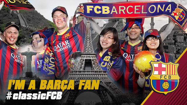 different pictures of supporters and the words I am a barça fan