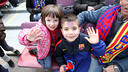 Plenty of young fans enjoyed the game with Getafe last season / PHOTO: MIGUEL RUIZ - FCB