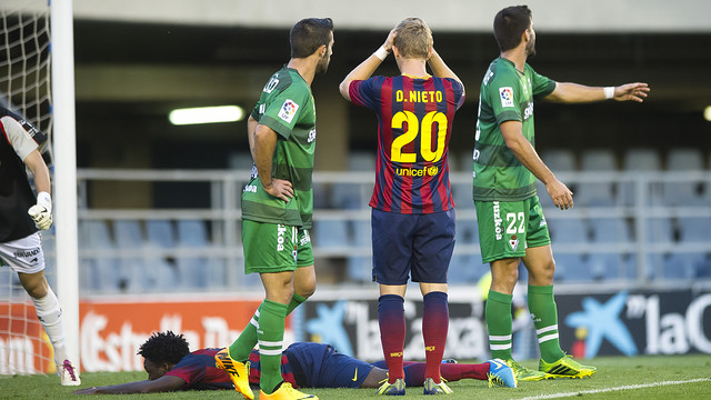 action from Barça's loss to Eibar