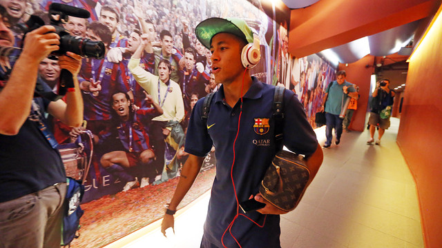 Neymar Jr, before the game against Madrid / PHOTO: MIGUEL RUIZ-FCB