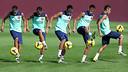 Sequence of Neymar's juggling skills / PHOTO: MIGUEL RUIZ - FCB