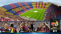 Camp Nou mosaic corresponding to Barça - Madrid on 26th October 2013