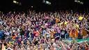 Una imatge del públic durant el Barça-Madrid