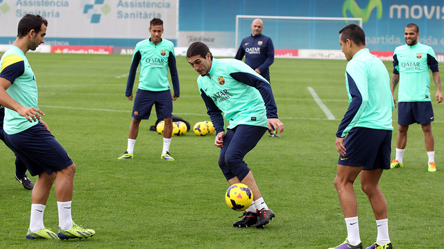 Training this morning. PHOTO: MIGUEL RUIZ - FCB