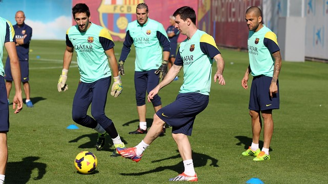 Training on Thursday. PHOTO: MIGUEL RUIZ-FCB.