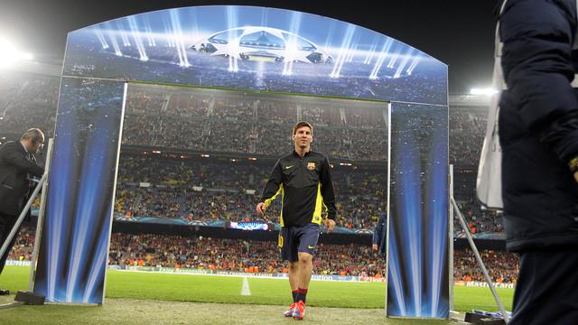Leo  Messi, abans del partit. FOTO: MIGUEL RUIZ - FCB