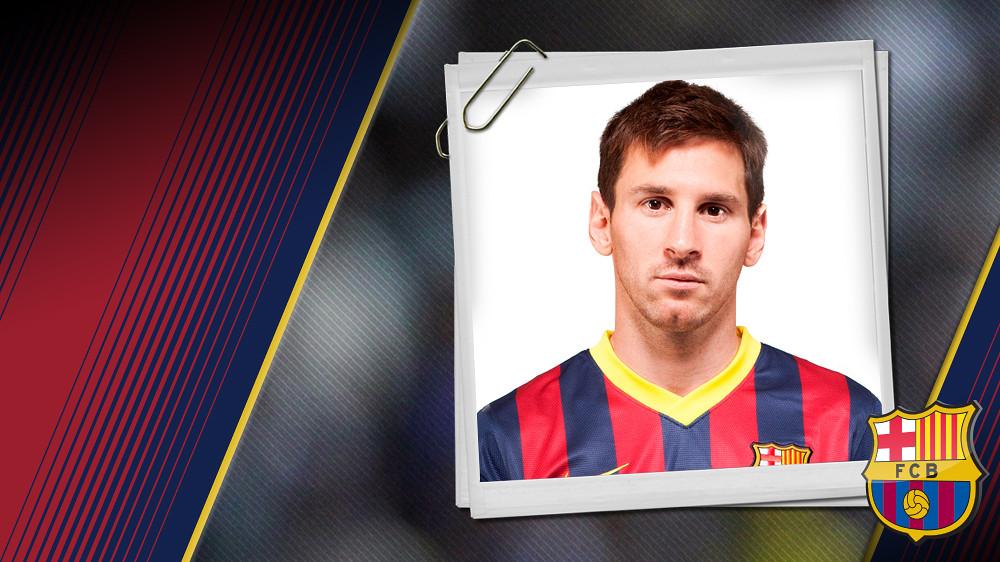 Imagen oficial de Messi con la camiseta del FC Barcelona