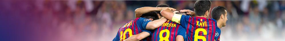 FCB players celebrating a goal