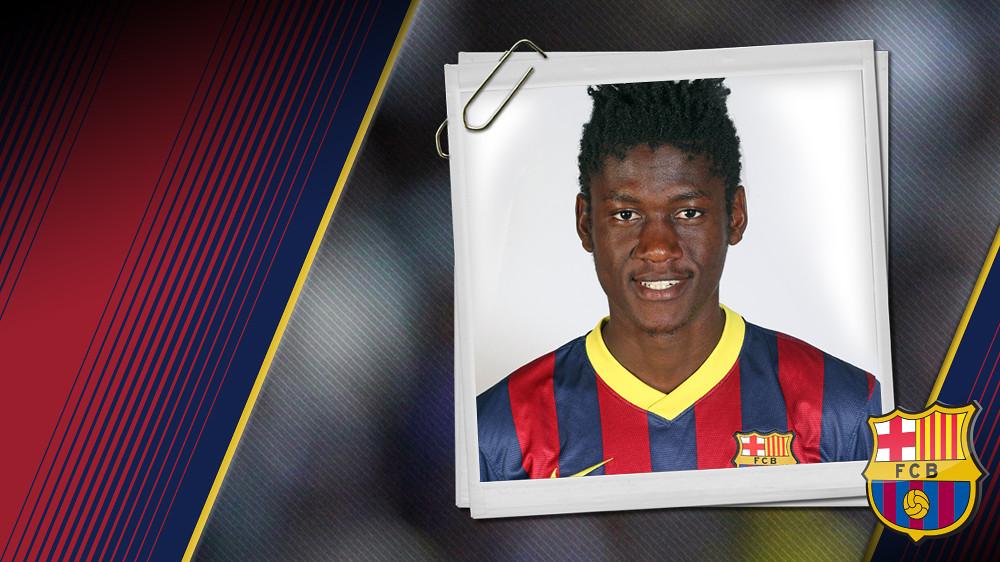 Imagen oficial de Bagnack con la camiseta del FC Barcelona