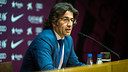 Toni Freixa during his press conference on Tuesday. PHOTO: GERMÁN PARGA-FCB.