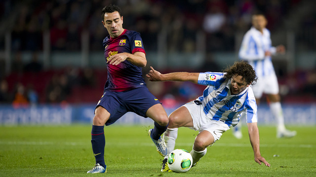 Xavi in the Copa del Rey