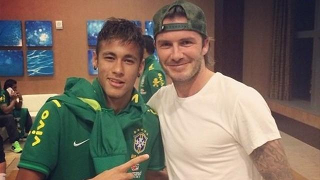 Neymar et Beckham / Photo Instagram Neymar