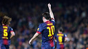 Messi celebrates scoring a goal / PHOTO: MIGUEL RUIZ-FCB