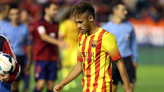 Neymar, contra Osasuna. FOTO: MIGUEL RUIZ-FCB.