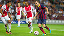 Iniesta in action against Ajax. PHOTO: GERMÁN PARGA-  FCB