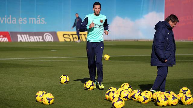Sergio Busquets in training. PHOTO: MIGUEL RUIZ -FCB