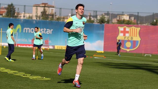 Messi, en un entrenament. FOTO: MIGUEL RUIZ-FCB.