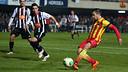 Jordi Alba during Friday's match / PHOTO: MIGUEL RUIZ-FCB