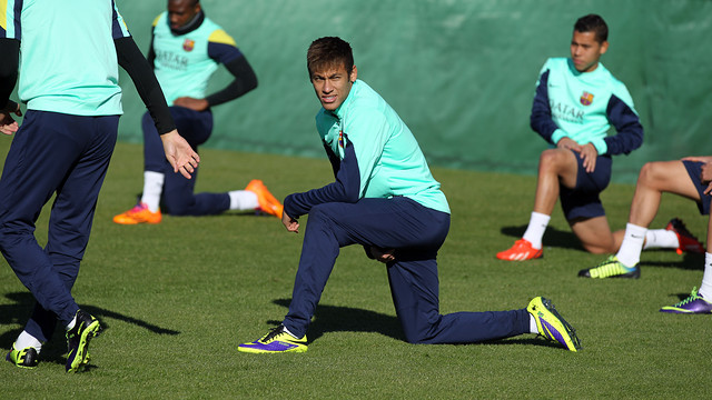 Neymar in training on Saturday morning / PHOTO: MIGUEL RUIZ – FCB