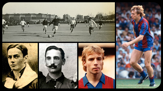 Collage of Barça's Scottish players / PHOTO: ARCHIVE FCB