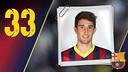 Imatge oficial de Campins amb la samarreta del FC Barcelona