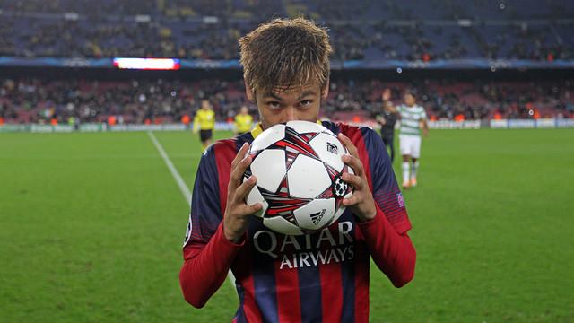 Hat-trick for Neymar against Celtic