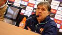 Martino in his press conference ahead of the clash with Villarreal. PHOTO: MIGUEL RUIZ - FCB