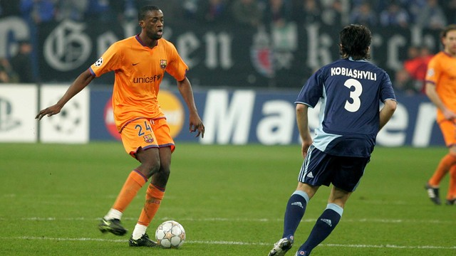 Touré Yaya, during his time at Barça