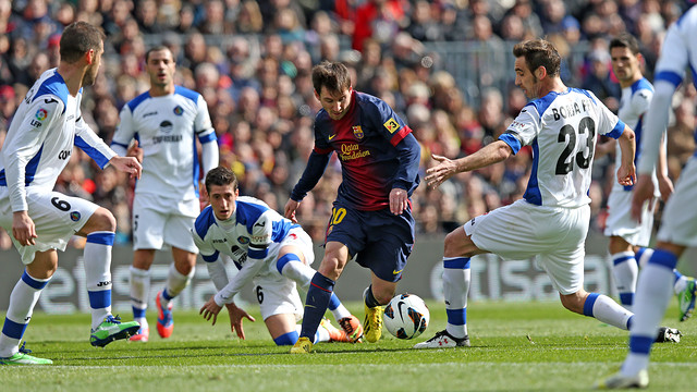 Getafe v Barça in the league.