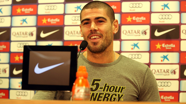 Valdes, at a press conference this Friday / PHOTO: MIGUEL RUIZ-FCB