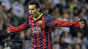 Pedro celebrating a goal / PHOTO: FCB