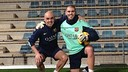 Valdés trained on Christmas Day with Juanjo Brau / PHOTO: @1victorvaldes