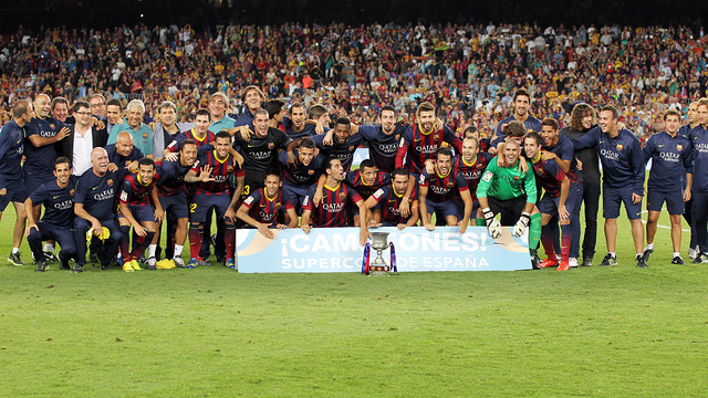 The football team won the Spanish Supercup / PHOTO: FCB ARCHIVE