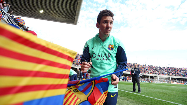 Leo Messi received the biggest ovation of the day / PHOTO: MIGUEL RUIZ - FCB
