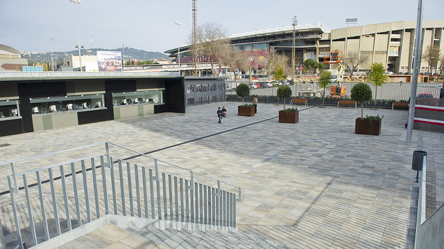 Picture of the new entrance to the Camp Nou