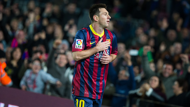 Leo Messi nets a double on his return to competitive play