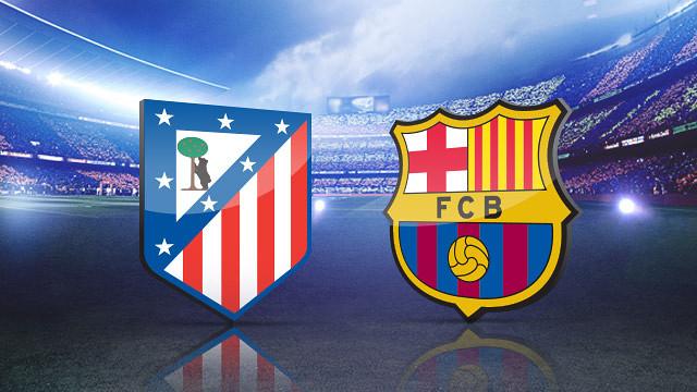 Resultat d'imatges de logos atlético de madrid vs fc barcelona