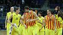 Els jugadors, un cop guanyat el partit. FOTO: EUROLEAGUE