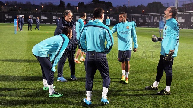 گزارش تصویری:تمرینات امروز تیم بارسلونا(14/01/2014)