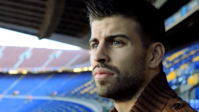 Pique at the Camp Nou