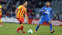 Xavi Hernández, al Coliseum Alfonso Pérez on va arribar als 700 partits oficials amb el Barça / FOTO: MIGUEL RUIZ - FCB