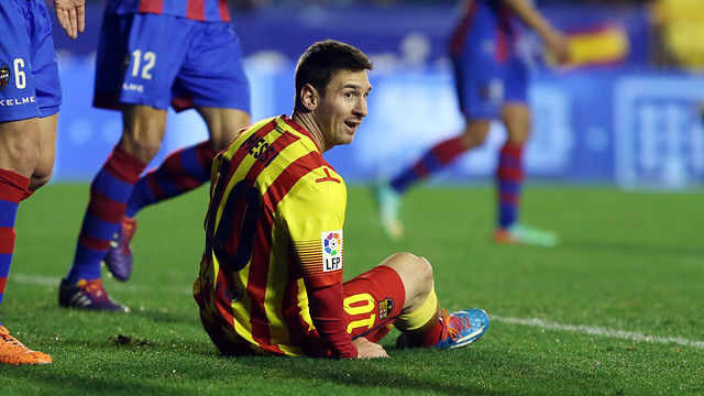 Messi was one of the standout players for Barça against Levante. / PHOTO- MIGUEL RUIZ-FCB