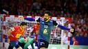 Karabatic celebra un gol contra Espanya / FOTO: EHF