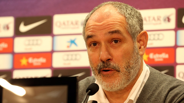 Andoni Zubizarreta at Saturday morning's press conference / PHOTO: MIGUEL RUIZ – FCB