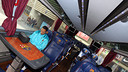 Adriano on the team coach. PHOTO: MIGUEL RUIZ - FCB