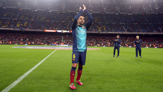 Xavi at the Camp Nou / PHOTO: MIGUEL RUIZ - FCB